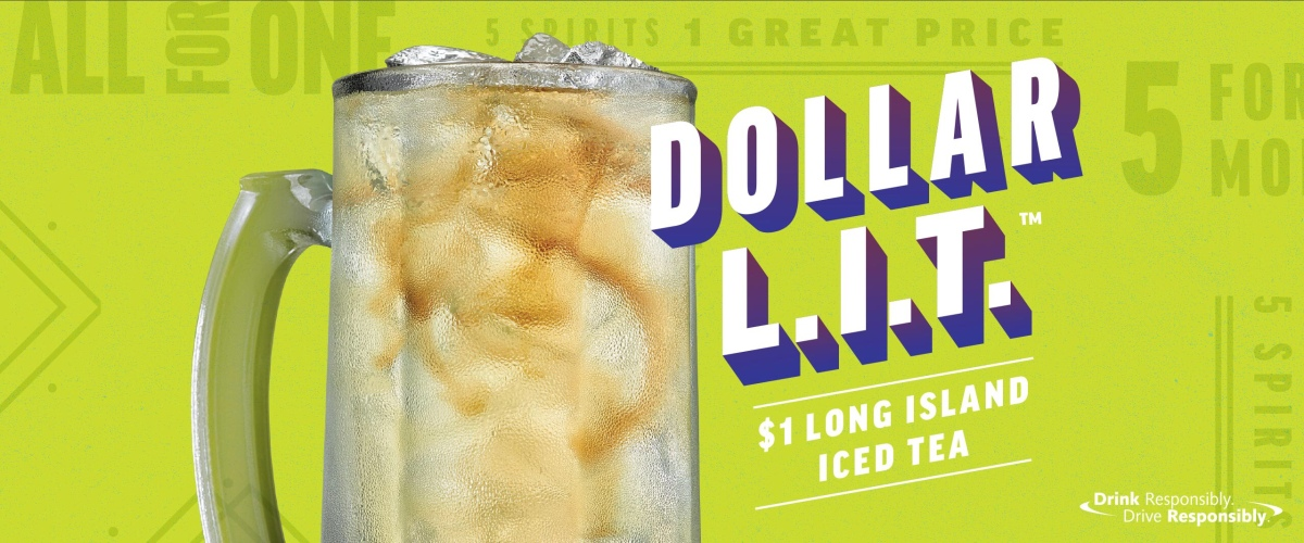 $1.00 Long Island Iced Teas all month long at Applebee's