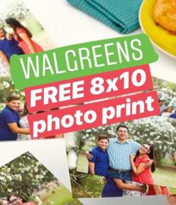 (Walgreens) FREE 8×10 Photo Print (In-Store Pickup)